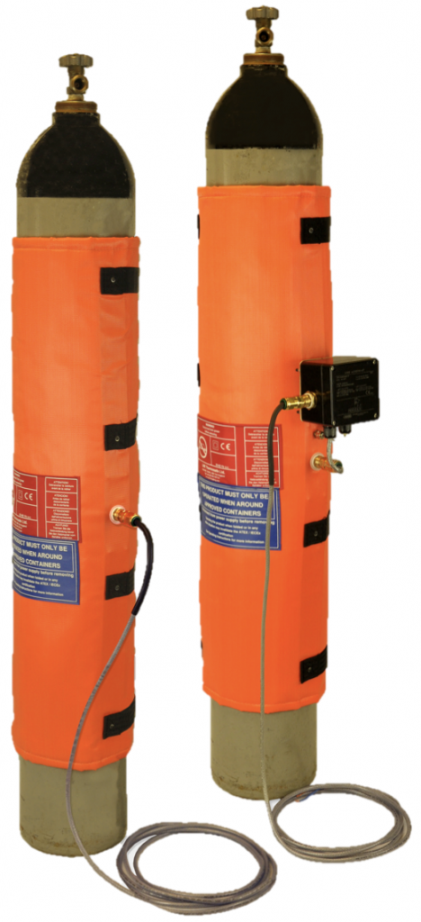 Inteliheat jackets for gas bottles